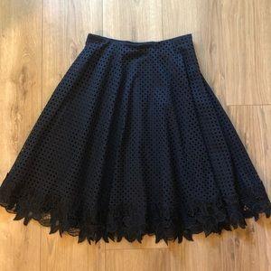 [Ann Taylor] Lace Swing Skirt w/ Flower Detail